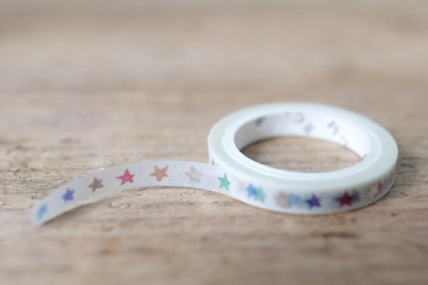 Masking Tape Glitter Star Line