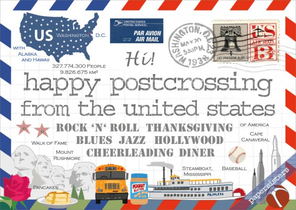 Happy Postcrossing US 3rd Edition