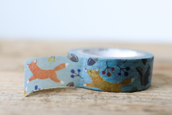 mt masking tape ex embroidery fox and squirrel