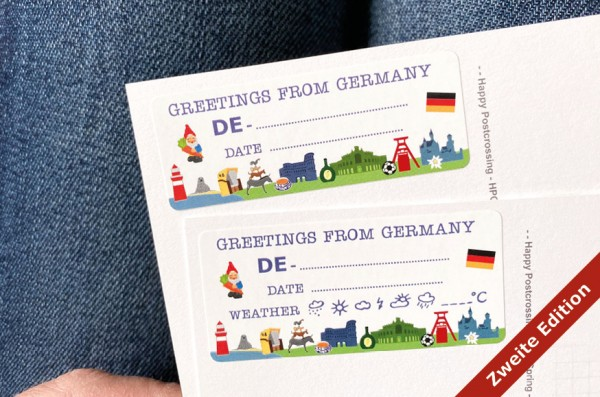 More Greetings from Germany Postcard ID Sticker Set 40 Stück