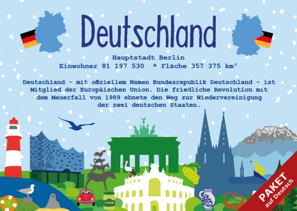 Das Paket - alle 17 Karten auf Deutsch - German Landmark Series