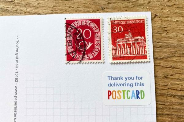 Postcard Delivery Sticker Set 60 pieces