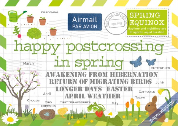 Happy Postcrossing in Spring