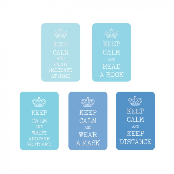 """Keep Calm"" Blue Sticker Set 50 Stück"