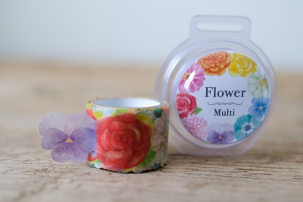 Masking Tape Sticker Roll Flower Multi