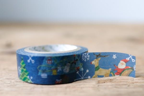 Masking Tape Blue Magic Christmas