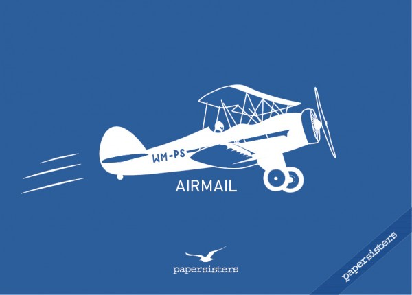 """Postkarte """"Vintage Airmail"""" by papersisters"""