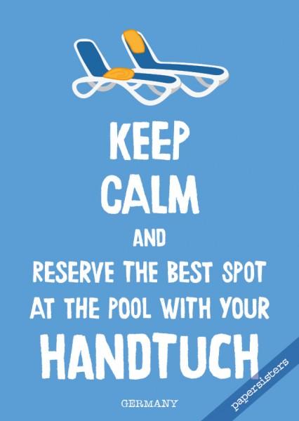 Keep calm Handtuch - No.21